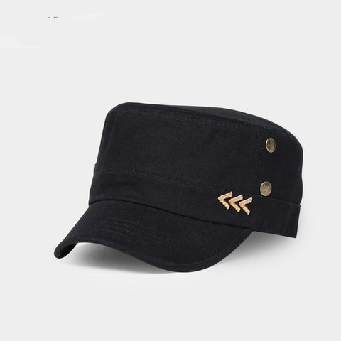 Embroidery Classic Simplicity Unisex Men Women Military Hats Flat Top Cap Summer Autumn Spring Brand Visor Hat Casual