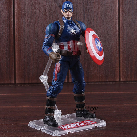 Marvel Action Figures Captain America 3 Civil War Toys Captain America PVC Collectible Model Toys for Boys