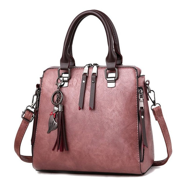 Women Shoulder Bag Female Tassel Pendant Women Handbag Double zipper Large Women Messenger Bags Sac KL209