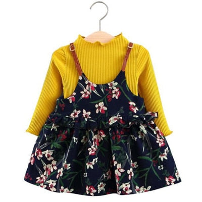 cc457ce9f Fall Winter Wear Brand New Baby Girls Clothes Long-sleeved Floral ...