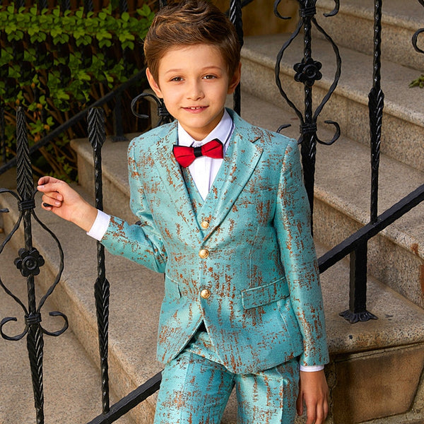 Blue Blazers For Boys Suits Blazers British Children's Dress Boys Suits For Weddings Performance Suit Jacket Costume Garcon