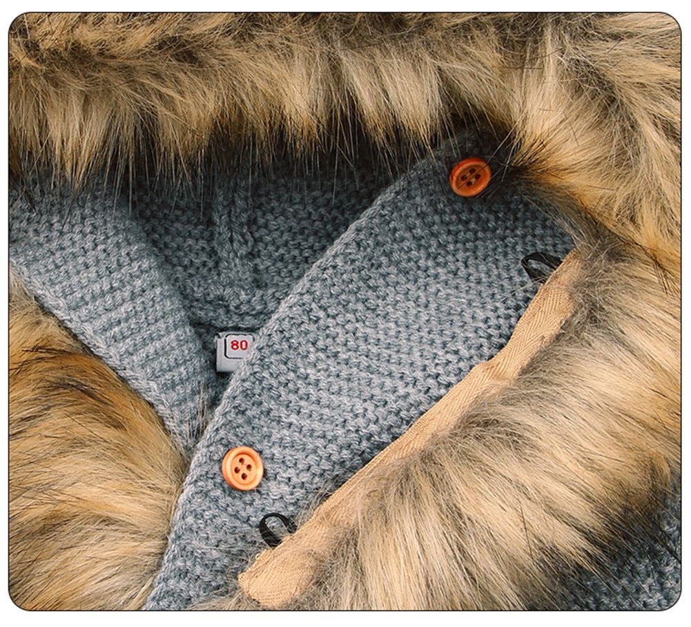 3aa6f45c19f7 Winter Fashionable Sweaters For Baby Cardigans Autumn Hooded Newborn ...