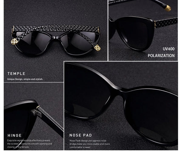 Design Women Cat eye Polarized Sunglasses Female Sun Glasses Retro Style Shades Glasses Oculos Feminino PL336