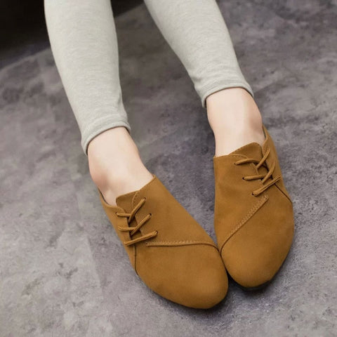 Women Flats Autumn Women Oxfords Shoes Lace Up Ladies Shoes Flats Woman Female Footwear 4 Colors