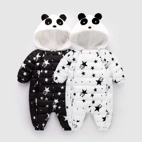 Baby Girl Clothes Winter Coat Baby Boy Jumpsuits Cotton Coats And Jackets Star Long Sleeve Newborn Outerwear For Kids