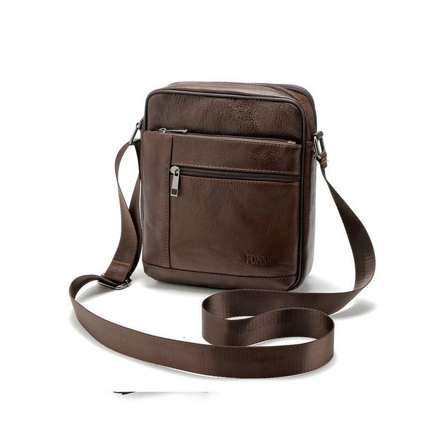 Genuine Leather Men Briefcase Brand Luxury Shoulder Messenger Bag High Quality Casual Zipper Office Men Bag