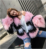 autumn and winter new  Mongolia Sheep Fur  coat sheepskin beach wool fur one coat female small fragrance short paragraph