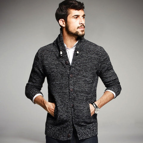 Autumn Mens Sweaters Cotton Knitted Cardigan Knitting Brand Clothing For Man's Knitwear Sweatercoats 16850