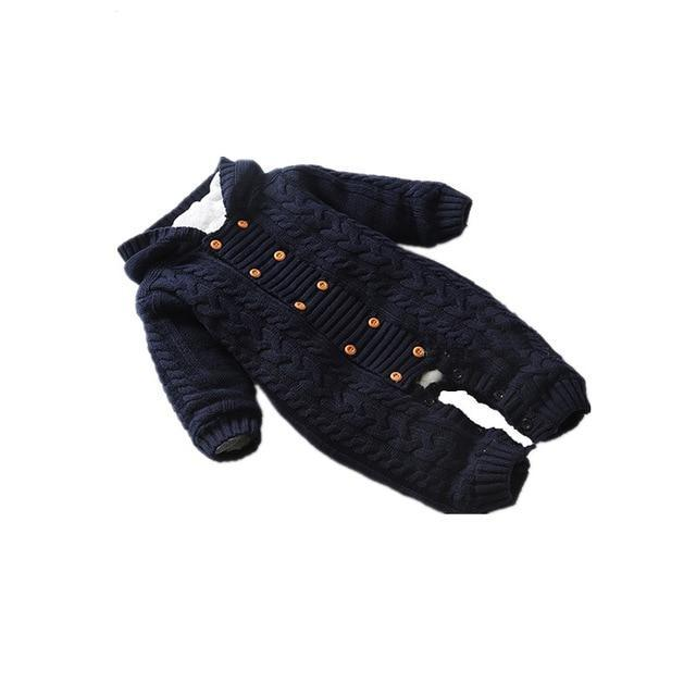 e8b62fab9 Thick Warm Infant Newborn Baby Boy Girl Knitted Sweater Jumpsuit ...