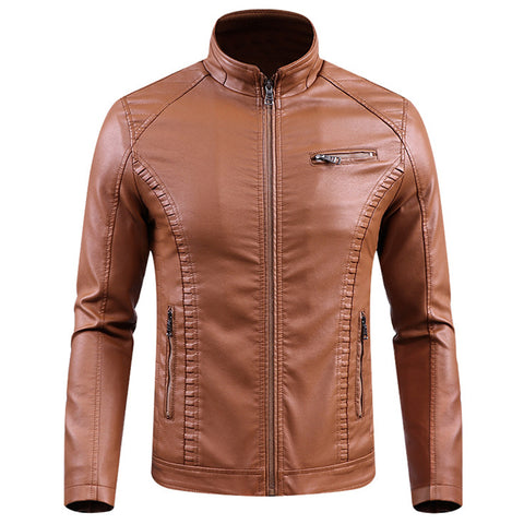 Jackets Men Slim Fit Casual Outwear Bomber Jacket Windbreaker Motorcycle Leather Jackets male fur coat Dropshipping