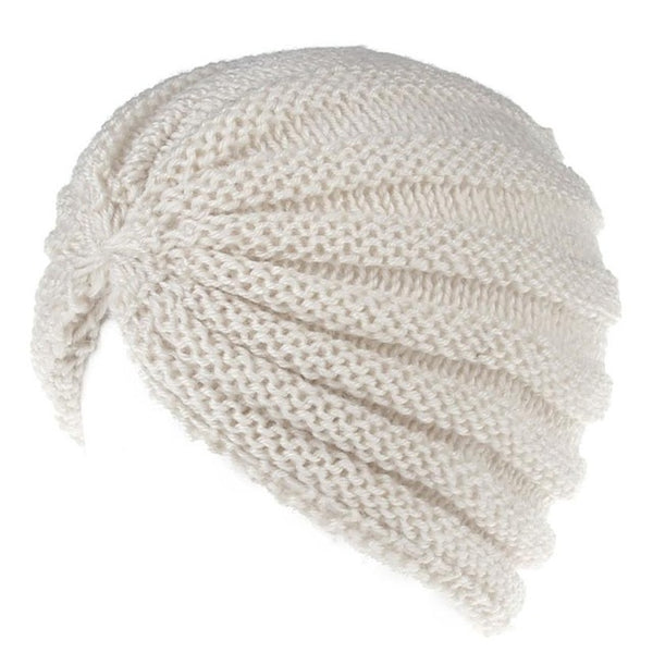 New Fashion Autumn And Winter Baggy Warm Women Manual  Wool Knitted Earmuffs Hats Girls Caps Thick Female Cap women's hats