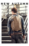 External USB Charge Backpack Men Business Travel Laptop Backpack PU Leather School Bag For Teenagers Men