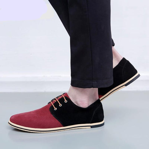 Men's Casual Shoes Lace-Up Shoes Men Style Mixed Colors Fashion Oxford Dress Shoes