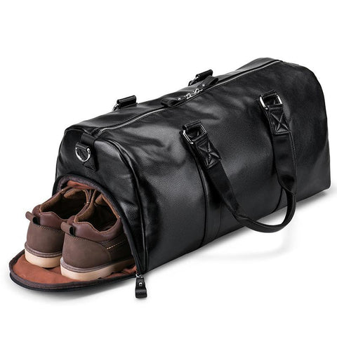 Leather handbag men Travel Bag Waterproof Large Capacity Travel Bag Duffle Bag Multifunction Tote Casual Crossbody