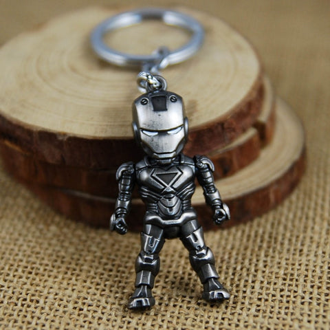 Movie Classic Iron Man Pendant Keychain The avengers alliance keychain  Metal Pendant Ironman Super Hero The Avengers