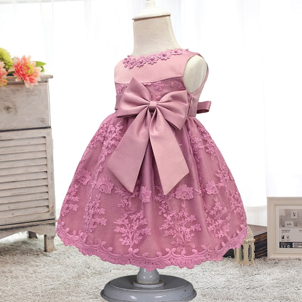 Infant vestidos baby girl clothes Baby dress Butterfly pearl Girl wear Sleeveless Dress for birthday party Toddler Costume