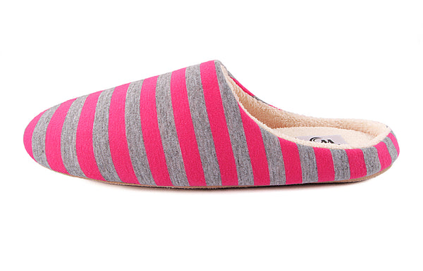 Flats Shoes Women Home Slippers Soft Floor Winter Warm Indoor Shoe Striped Cotton Slipper Pantufa Woman Big Size 44/45