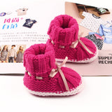 Newborn Baby Knitted First Walkers Spring Autumn Candy Infant Booties Boys Girls Crochet Shoes Warm Toddler Crib Boots
