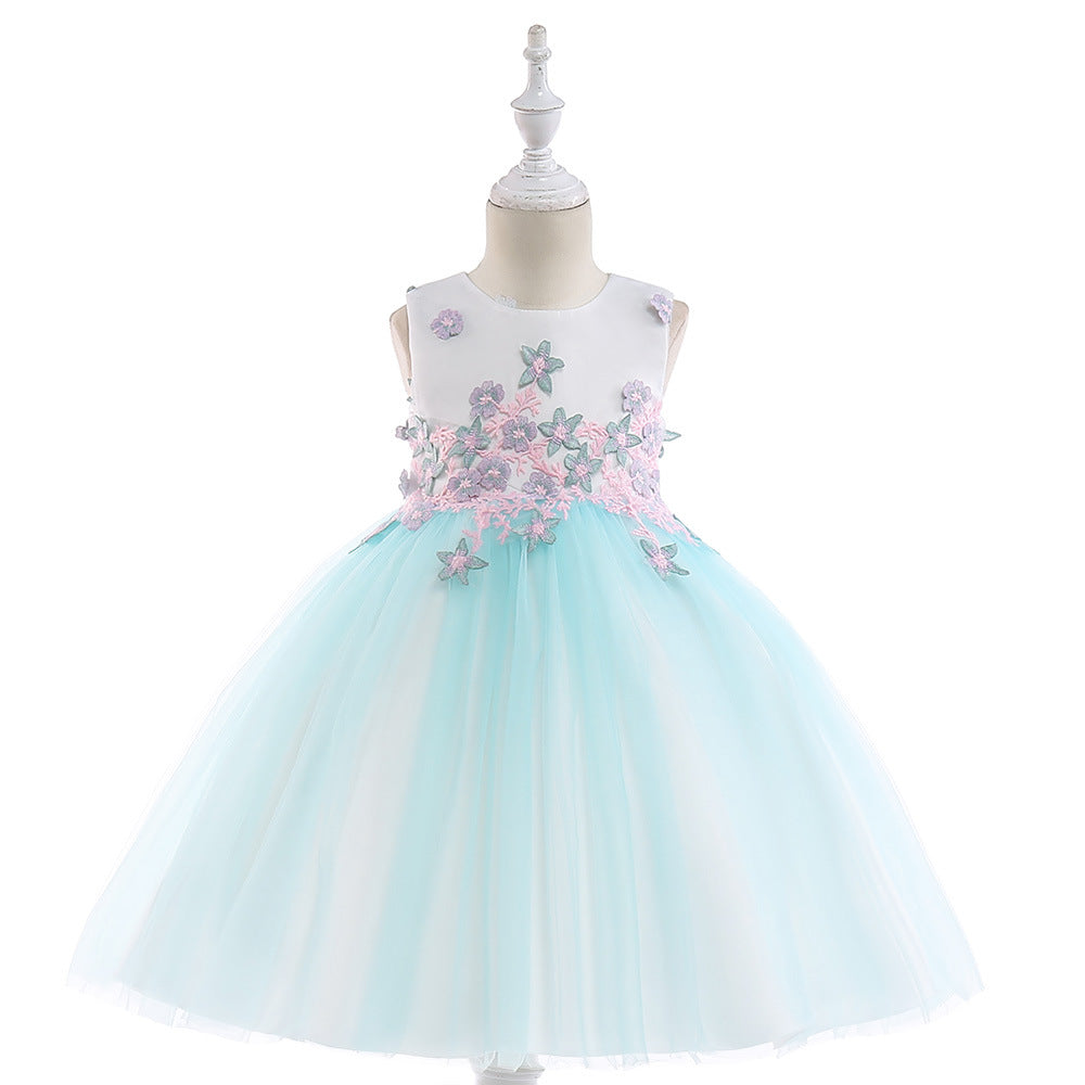 Flower Girl Dress Girl Clothing Princess Brithday Applique Ball Gown Kid Dresses