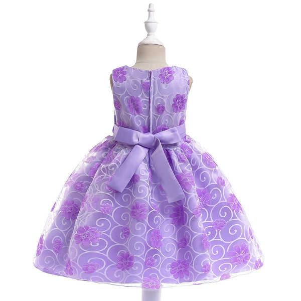 Purple flower girls dresses for weddings Baby Party frocks children images Dress kids prom dresses evening gowns 2018