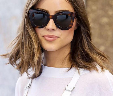 Retro Small Cat Eye Sunglasses Women Luxury Brand Designer 90s Tortoiseshell Oval Cateye Sun Glasses Shades SP107