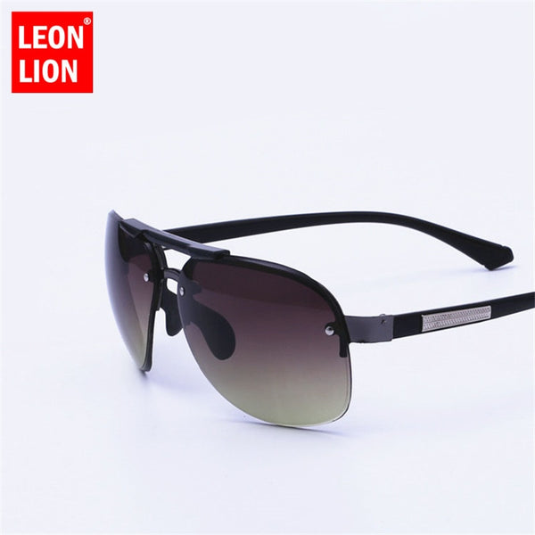 LeonLion 2018 Summer Pilot Sunglasses Women Alloy Vintage Mirror Glasses Metal Sun Glasses Lunette De Soleil Femme UV400