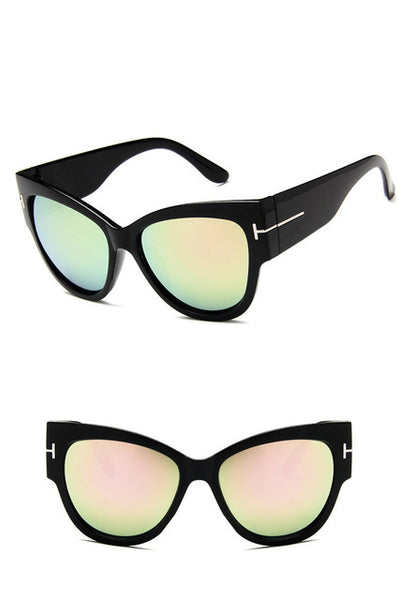 New Fashion Cat Eye Sunglasses Women Brand Designer Vintage Gradient Square Sun Glasses Shades For Female UV400 mirrors