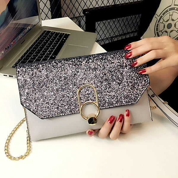 Clutch Luxury Handbags Women Bags Designer Female Party Purse Evening Bag Prom Sequin Ladies Day Clutch Handbag With Chains