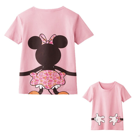 849c9e255b Family Look T shirt Matching Mother Daughter Clothes Minnie Mouse Mommy and  Me Clothing Mom Father