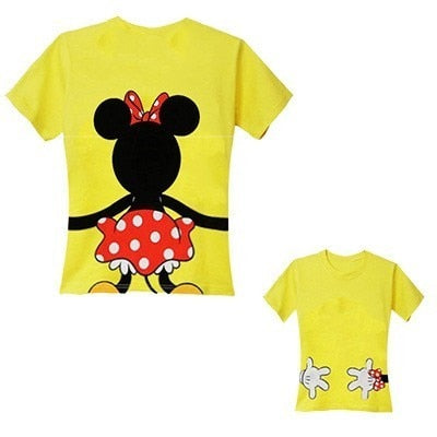 b06c6176 ... Family Look T shirt Matching Mother Daughter Clothes Minnie Mouse Mommy  and Me Clothing Mom Father ...