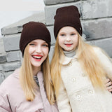 Women Knitted Warm Hat Fashion Girls Winter Cashmere Caps Lady Skullies Bonnet Caps Slouchy Casual Ear Protection Hat B-9136