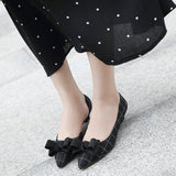 Autumn Women Retro Low Heels Shoes Woman Fashion Bow-knot Pointed Toe Side Hollow Sexy Party Wedding Pumps 35-42