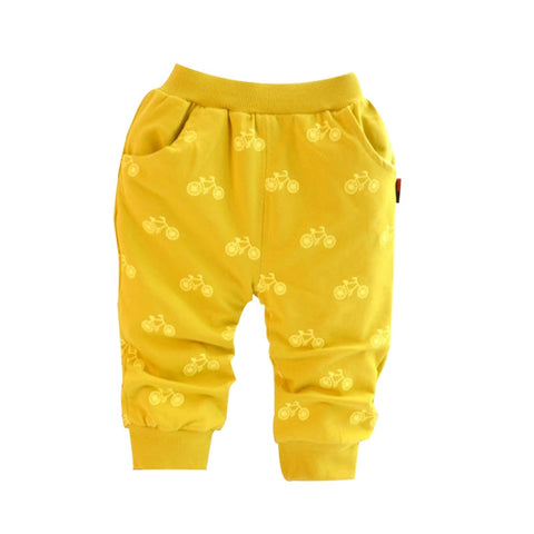 New Spring and autumn cotton Korean style bicycle design baby pants 0-2 year children pants baby boy / girls pants