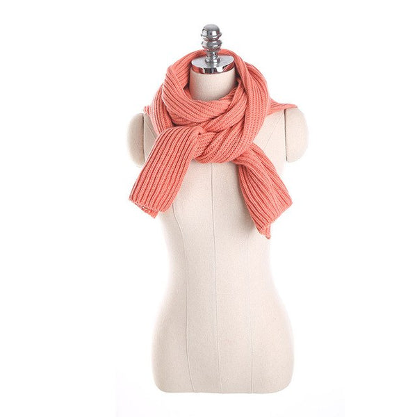 Acrylic Scarf Wool Hat Hooded Cape Knitted Shawl Winter Women Solid Scarf Take The Shoulder Strap Scarf Pashmina