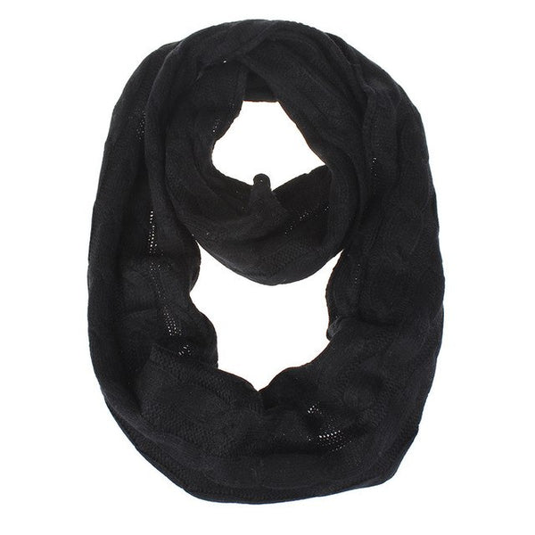 Autumn Winter Warm Scarf Women Ladies Simple Round Braided Wool Scarf Knitted Collar 8 colors