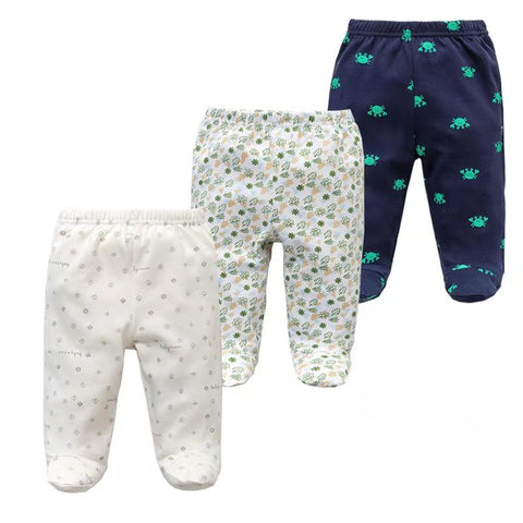 3Pcs/H Baby Pants Spring Autumn Footed 100% Cotton Baby Girl Clothes Newborn Pants  Bebes Infant Baby Trousers Kids Clothing