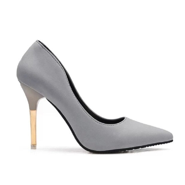 34400e7906005 women cool comfortable high heel shoes lady classic black office high heel  pumps cute sexy shoes a3241