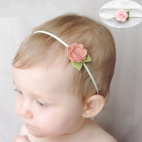 Rose Flower Hair Bands Newborn Baby Elastic Photography Props Headband Lovely Headwear Fashion Hair Accessories