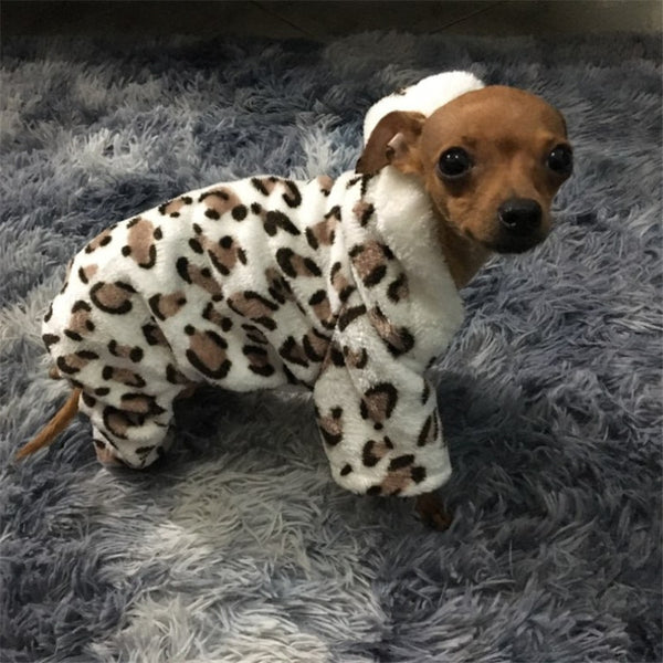 Fashion Soft Leopard print Pet Dog Clothes Coat Costume Yorkshire Chihuahua Dog Clothing Small Puppy Dog Coat