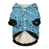 Pet Dog Cat Clothes Cotton Hoodie Warm Thick Pearl Brooch Autumn Winter Coat