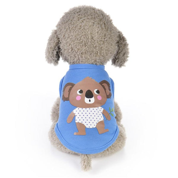 New Pets Clothes For Small Dogs 1PC Summer Animals Cartoon Vest Dog Puppy Costumes Pet Clothes High Quality Size XXXS/XXS/XS/X/S