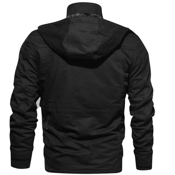 Fashion Gothic Plus Size men's Jacket Long Sleeve Stand Collar Slim Shirt Casual gothic  Black Goth Men Jacket