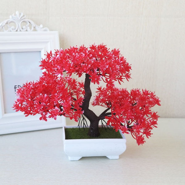 Potted Blossom Bonsai Festival Cherry Fake Greeting Trigeminal Ball Pine 26Types Wedding Artificial Flowers