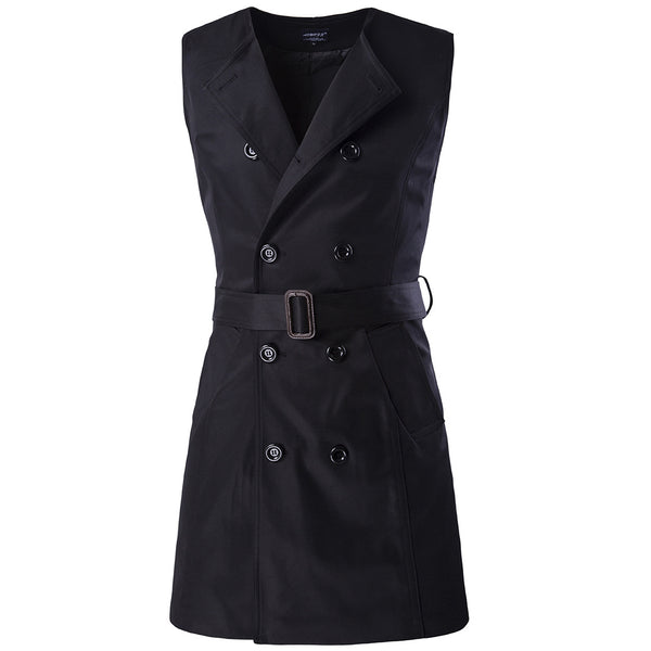 New Fashion Spring &Autumn Men Clothing Two piece Suit Coat long double Breasted Trench Coat