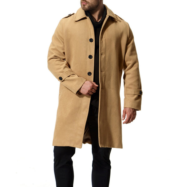 Fashion Trench Coat Men Cotton Solid Casual Jacket Men Wind Coats 2018 Autumn Winter Tops