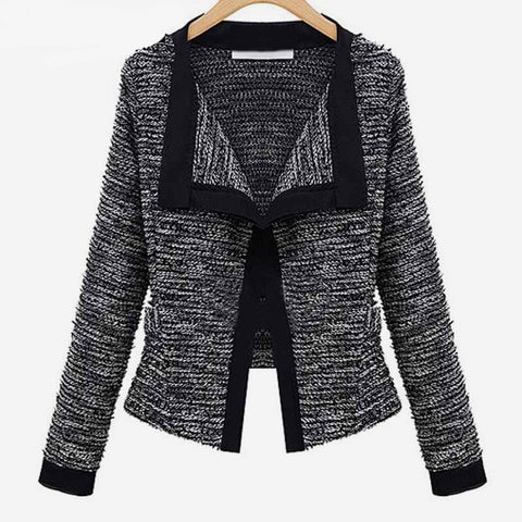 Autumn Women Patchwork Slim Blazer Jacket Fashion Small Suit Casual Cardigan Coat Female Formal Work Blazer Coats