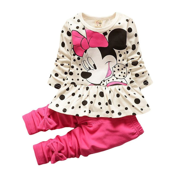 Children Clothing Sets Christmas Outfits Costumes For Kids Sport Suits Girls Clothes Sets Cartoon Baby Girls Clothes