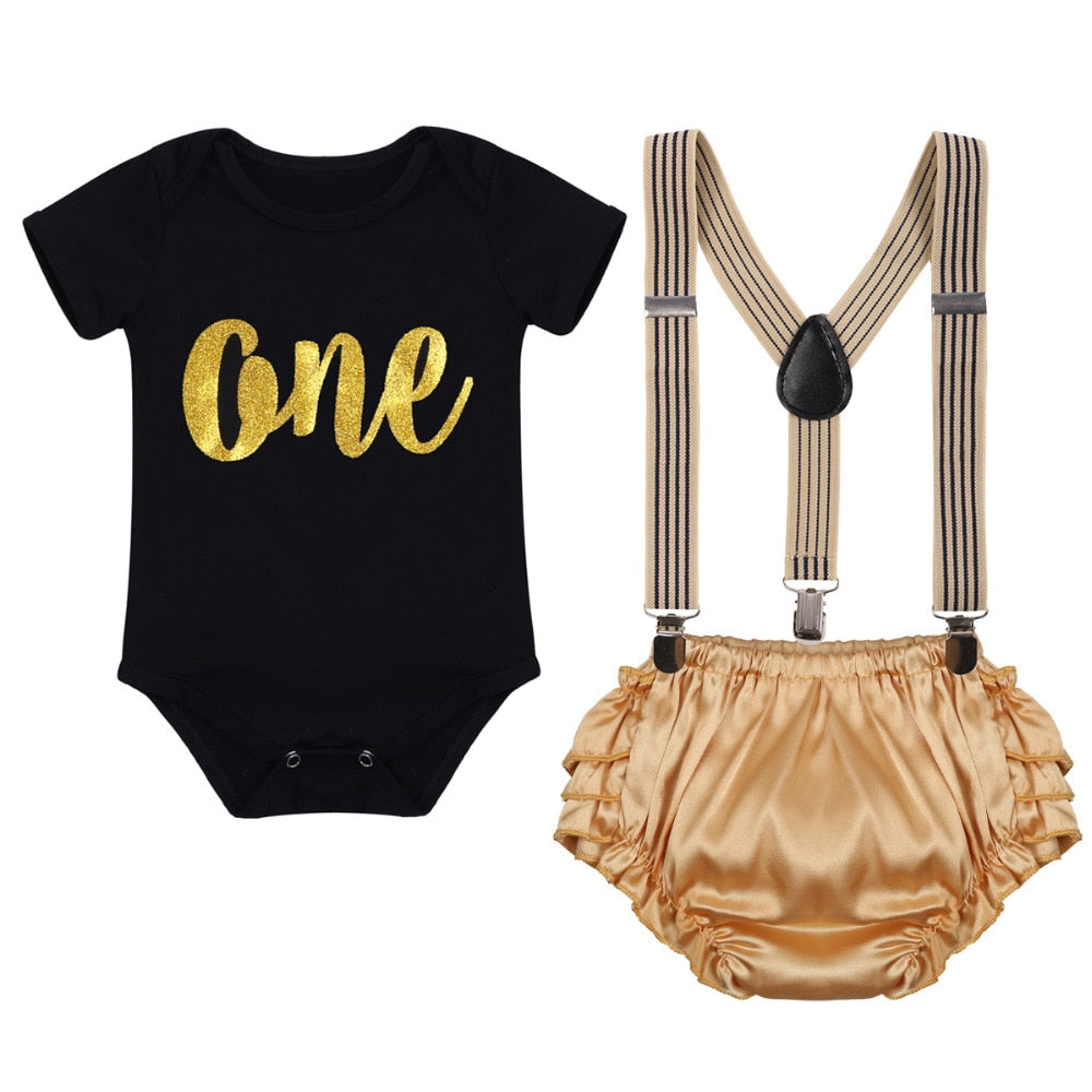 Awesome Newborn Baby Girls Boys First Birthday Cake Smash Outfits Romper Personalised Birthday Cards Veneteletsinfo