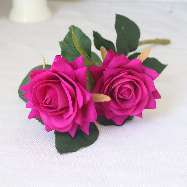 Fake Rose Flower Wedding Silk Flower Decoration Roses Artificial Flower For Farmhouse Wedding Home Decoration