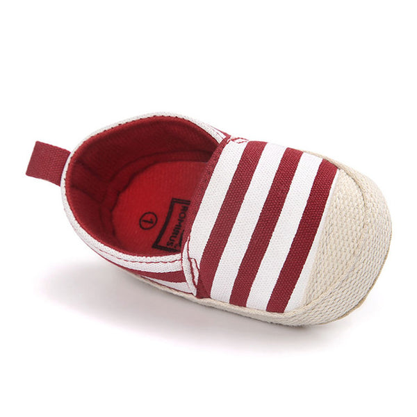 Fashion Blue Striped Baby Boy Shoes Lovely Infant First Walkers Good Soft Sole Toddler Baby Shoes Hot Sale